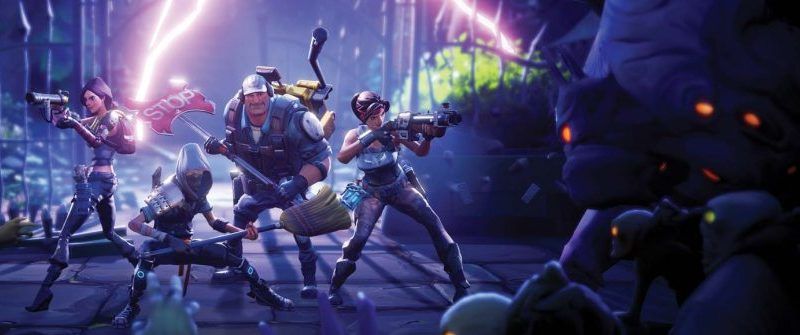Fortnite on PS4, construction and zombies